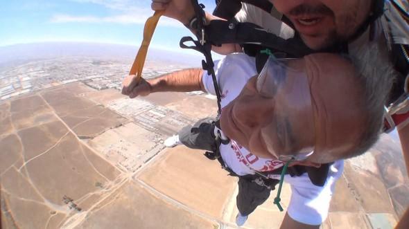 My dad sky diving