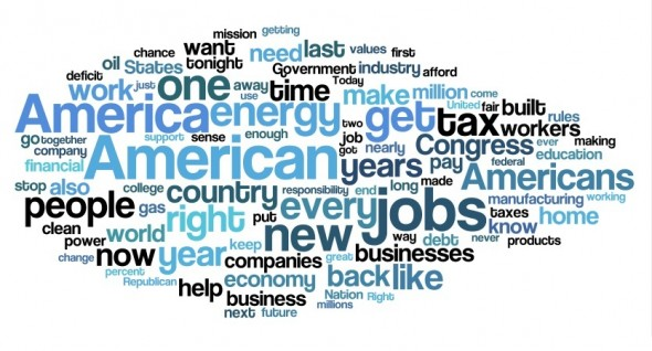 2014 State of the Union wordle, source: stateimpact.npr.org