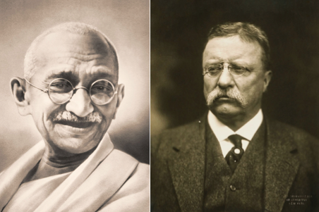 Mahatma Gandhi, Theodore Roosevelt