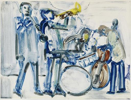 Romare Bearden, Zach Whyte's Beau Brummell Band, 1980.