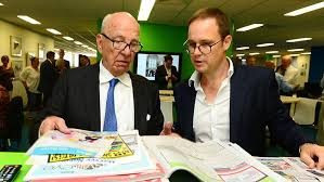 Rupert Murdoch visiting the Townsville Bulletin in 2013, one of his newspapers in Australia. Via the Townsville Bulletin.