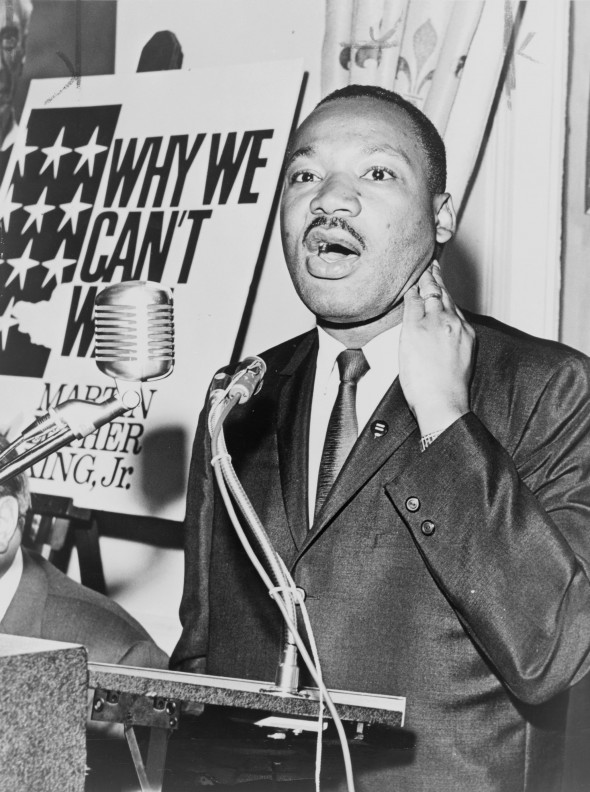 """""""Injustice anywhere is a threat to justice everywhere,"""" Dr. Martin Luther King, Jr. from his address at Holt Street Baptist Church in Montgomery, Alabama in 1955."""