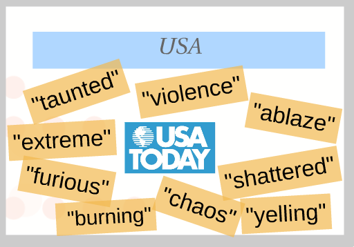 Figure 1. Key words from the USA Today story.