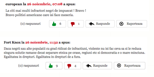 Readers of EVZ commenting on stories