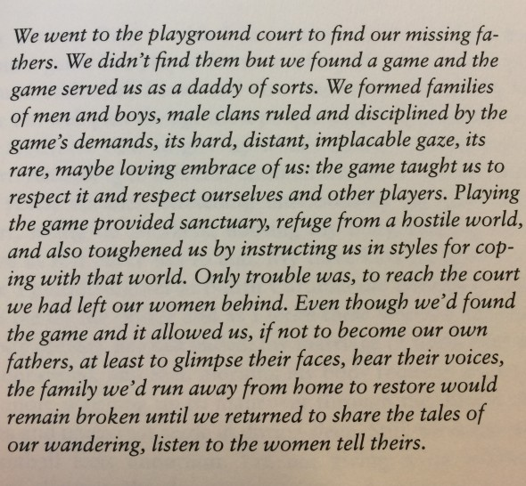A prologue from John Edgar Wideman's Hoop Roots.