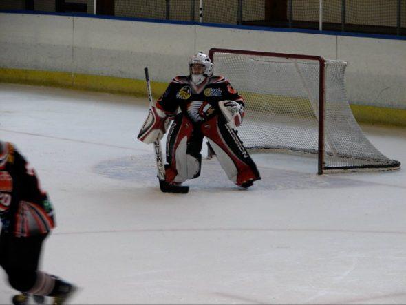 Defending the net for the Leuven Chiefs (Belgium) Circa 2010