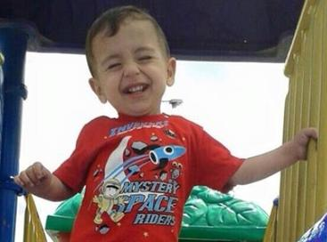 Alan Kurdi, from a photo posted to facebook by his aunt. (via wikimedia)