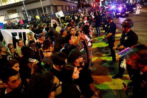 ...protesters in LA