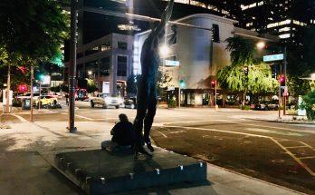 Homeless person. Downtown Phoenix